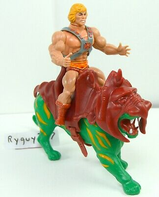 MOTU, He-Man & Battle Cat, figure, Masters of the Universe, vintage, lot, set