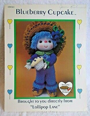 Vintage Dumplin' Designs/Lollipop Lane Crochet Pattern - Blueberry Cupcake - '84