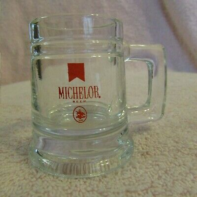 Michelob Logo on Clear BEER STEIN  Shot Glass