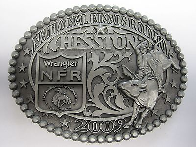 National Finals Rodeo Hesston 2009 NFR Adult Cowboy Buckle New AGCO PRCA Kansas