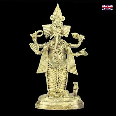 Dokra Ganesh Figure in Brass - Dhokra - Indian Tribal Art