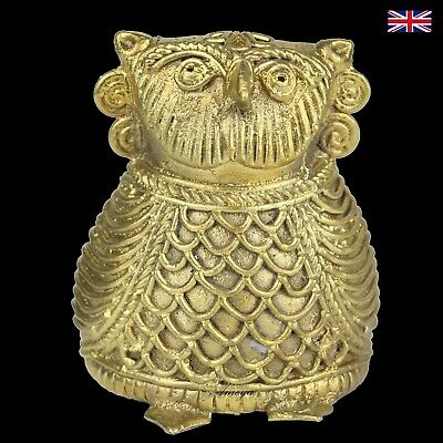 Dokra Owl Figure in Brass - Dhokra - Indian Tribal Art Ver 1