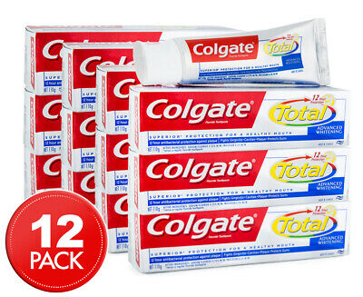 12 x Colgate Total Advanced Whitening Toothpaste 110g