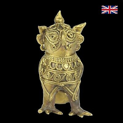Dokra Ganesh Owl Figure in Brass - Dhokra - Indian Tribal Art Ver 2