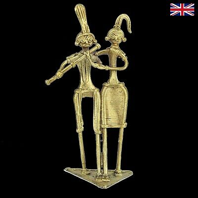 Dokra Husband and Wife Figure in Brass - Dhokra - Indian Tribal Art