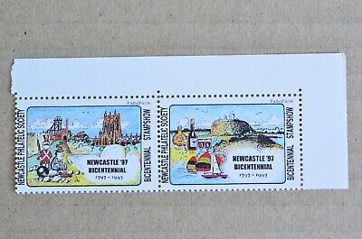 Pair Of 1997 Newcastle Cinderella Stamps MUH