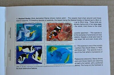 Block Of 4 Lord How Island Courier Post Cinderella Stamps