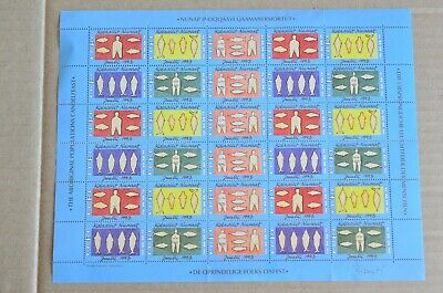 Sheet Of Aboriginal Populations Candel Feast Cinderella Stamps