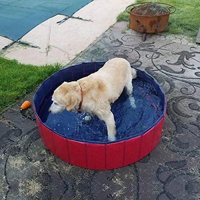 Yaheetech 32inch.D x 8inch.H Pet Swimming Pool Foldable Bathtub Dog Cats Washer