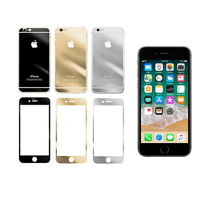 Mirror Tempered Glass Screen Protector Front and Back for Apple iPhone 6/6S Plus