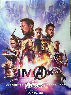 "Marvel AVENGERS ENDGAME 2019 RARE IMAX Version DS 2 Sided 27X40"" US Movie Poster"