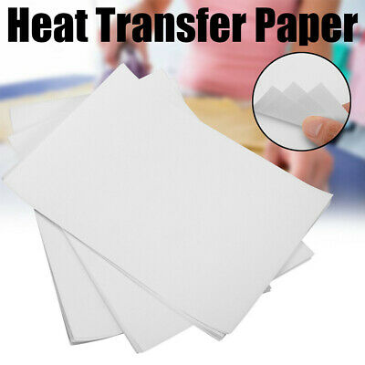 10Pcs A4 T Shirt Transfer Paper Iron On Light Fabrics Heat Press Inkjet Print
