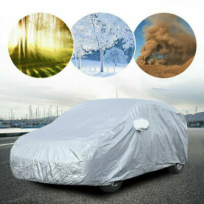 L - Foldable Waterproof Snow Wind Dust Resistant UV Outdoor Full Auto Car Cover