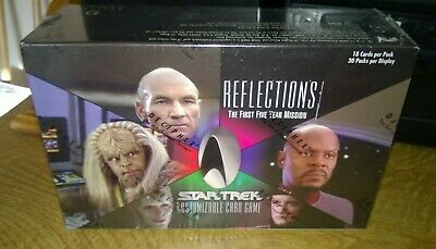 Star Trek CCG's Reflections Card Game Sealed Box 30 booster packs Five Year Miss