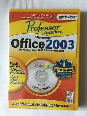Professor Teaches Office 2003 PC CD-ROM Word 2003,Excel 2003m & PowerPoint 2003