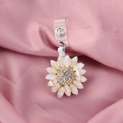 1PC Flower Telescopic Buckle Metal Point Drill Easy Pulling Retractable Keychain