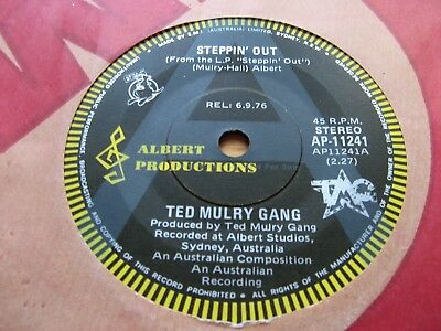 """TED MULRY GANG - Steppin' Out 7"""" - ALBERT """"ROO"""" A LABEL - Australia - PROMO ONLY"""
