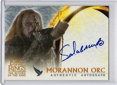 Lord of the Rings Return King UPDATE Autograph Card Sala Baker SP 1:427