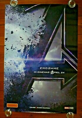 AVENGERS End Game Original 2019 Australian Advance One Sheet Movie Poster
