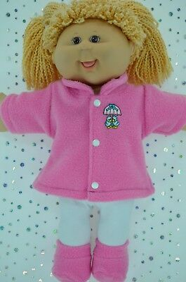 "Play n Wear Doll Clothes For 16"" Cabbage Patch CANDY PINK JACKET~TIGHTS~BOOTIES"