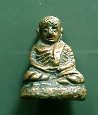 Lp Ngern Meditating Buddha Statue, Thai Amulet For Money Buddha Lucky Talisman