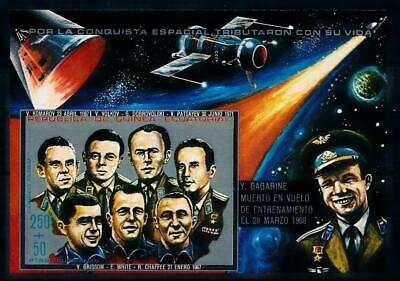 [99973] Equatorial Guinea 1972 Space Travel Astronauts Gagarin Imperf Sheet MNH