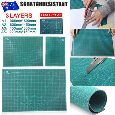 Cutting Mat Board PVC Green A1 A2 A3  Pad for Scrapbooking Quilting Sewing AU