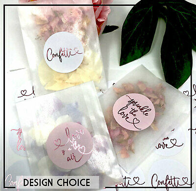 Confetti throw me Wedding Stickers labels,Sprinkle the love  Pink metallic foil
