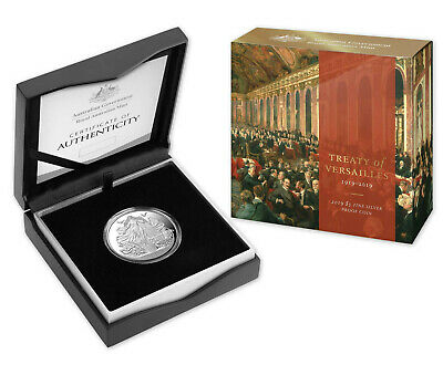 2019 $5 Centenary of the Treaty of Versailles 1oz Fine Silver Proof Coin