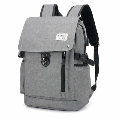 Youth Casual Laptop Backpack External USB Charging Anti-theft Bags