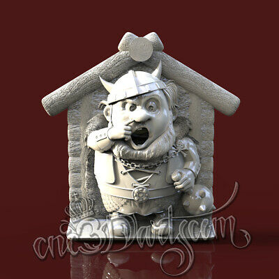 3D Model STL for CNC Router Artcam Aspire Viking Birdhouse Panel Cut3D Vcarve