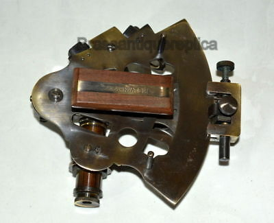 """COLLECTIBLE 4"""" Brass Nautical vintage Sextant In Antique CHRISTMAS GIFT"""