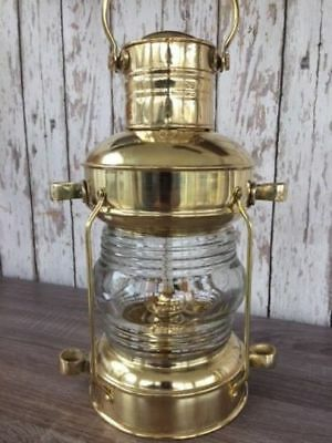 LOT OF 10 PCS Brass Anchor Oil Lamp Nautical Maritime Ship Lantern ~ Boat Light