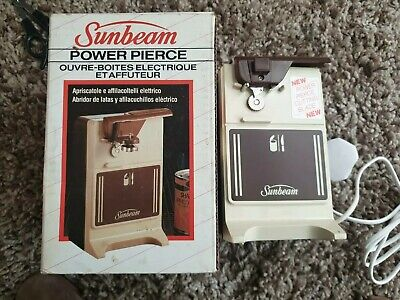 Sunbeam Power Pierce 811 Elecric Can Opener and Knife Sharpener In Original Box