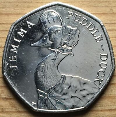 JEMIMA PUDDLE-DUCK Rare 50p Circulated 2016 Beatrix Potter Coin