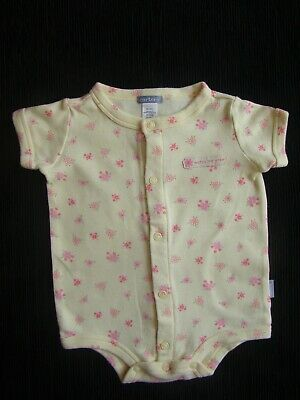 Baby clothes GIRL 0-3m yellow/pink floral romper short sleeves SEE SHOP,COMBINE!
