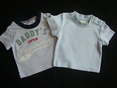 Baby clothes BOY newborn 0-1m x2 cute T-shirts short sleeves, SEE SHOP! COMBINE!