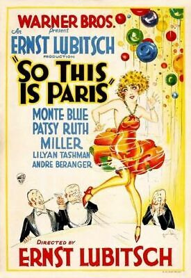 So This Is Paris - 1926 - Monte Blue Patsy Ruth Miller Silent Comedy Film DVD