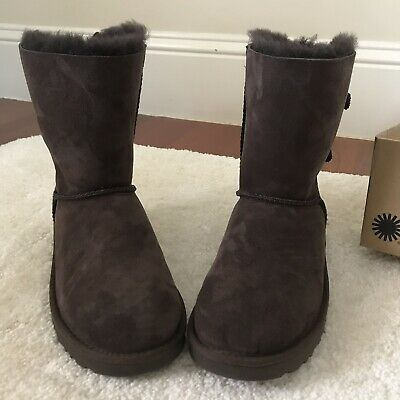 830b1d165fb NEW UGG BAILEY Bow Corduroy Genuine Sheepskin Boot BROWN Size 11 ...