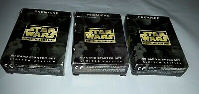 1995 STAR WARS 164 Trading Cards Decipher Inc in original Starter Card Boxes