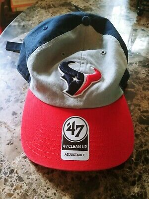 watch e1a90 071e1 Houston Texans 47 Brand NFL Strapback Adjustable Cap Dad Hat Navy Clean Up  New