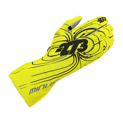 Go Kart Minus 273 Zero Karting Glove Fluo Yellow Large Karting Race Racing