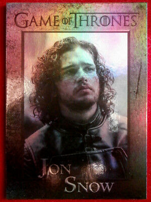 GAME OF THRONES - JON SNOW - Season 4 - FOIL PARALLEL Card #40 - Rittenhouse