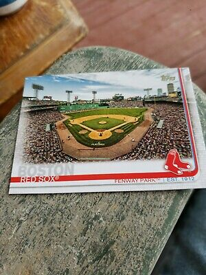 2019 Topps Series 1 Base #160 Fenway Park - Boston Red Sox Opening Day.