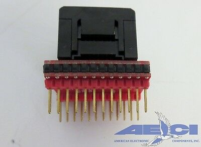 EDI CORP 28PL/D6-3-ZAL 28 Pin PLCC Programming adapter for 22V10