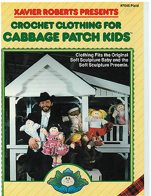 Vtg. CROCHET Patterns FOR CPK CABBAGE PATCH DOLL CLOTHES - free shipping!