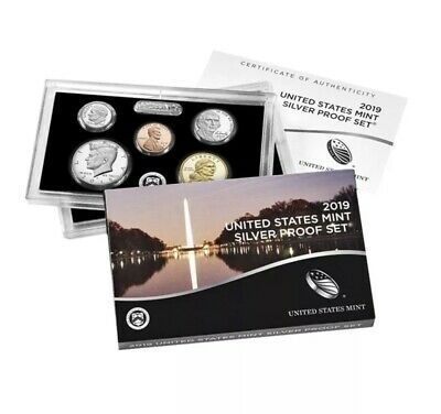 2019S - 10 Coin SILVER Proof Set w/box & COA (NO EXTRA Lincoln 'W' CENT)