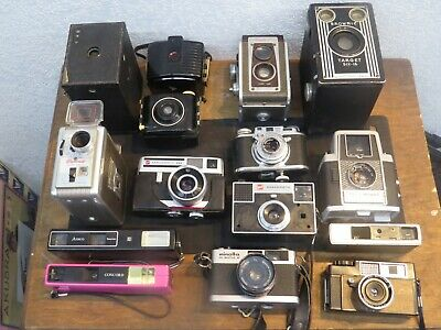 Lot Of15 Assorted Antique/Vintage Cameras. Untested, Most Nonworking.        CS