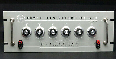 Clarostat 250 Power Decade Resistor, 1Ω - 999kΩ 225W, Rackmount Version of 240-C