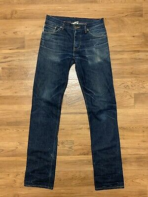 Raleigh Jeans 33x30 Selvedge Cone Denim Jones Thin Nwt